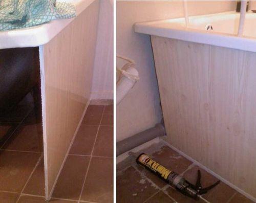 Как сделать экран под ванной пластиковыми панелями 74