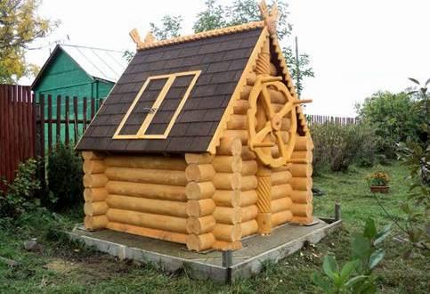 Декоративные домики для колодцев