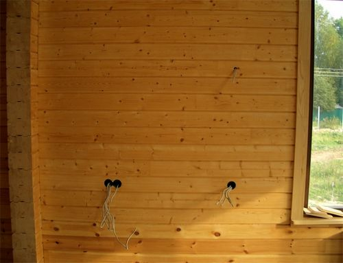 Как сделать электрику в деревянном доме цены 98