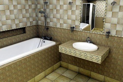 Фото ванных комнат с плиткой гламур