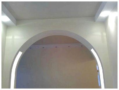Арки из гипсокартона в прихожей: видео-инструкция по монтажу своими руками, особенности гипсокартонных конструкций между коридором и гостиной, цена, фото