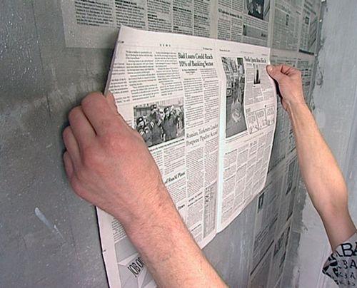 Обои-газета: газетные покрытия вместо отделки и наклеивание под покрытия, инструкция, видео и фото