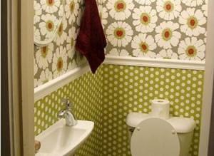 Обои в туалете: выбор, инструкция по нанесению жидких покрытий, видео и фото