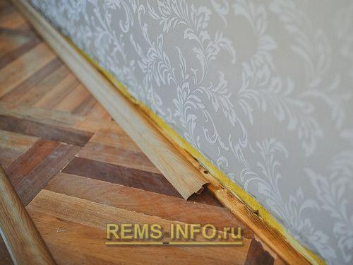 Установка пластикового плинтуса в место деревянного: проблема и решение | Паркет. | Пол и покрытия.