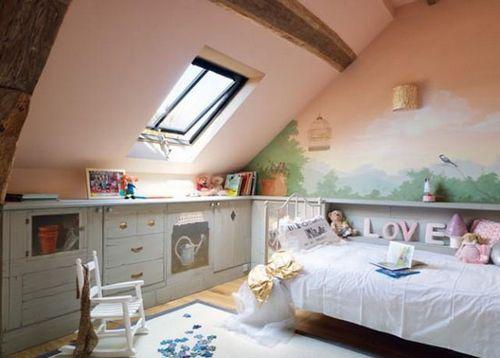 Детская в мансарде: выбор дизайна интерьера, мебели, особенности оформления мансардной комнаты для девочки подростка и мальчика, фото детских мансардных комнат