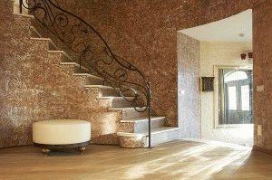 Декоративная штукатурка в интерьере жилища