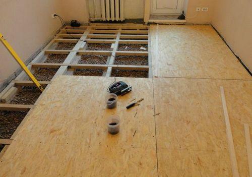 Дешевый деревянный пол - конструкция и материалы