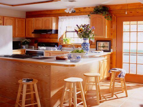 Дизайн кухни под дерево своими руками: особенности, материалы, этапы оформления (фото и видео)