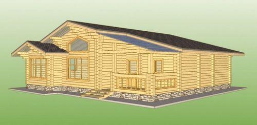 Дом из клееного бруса 100 кв м