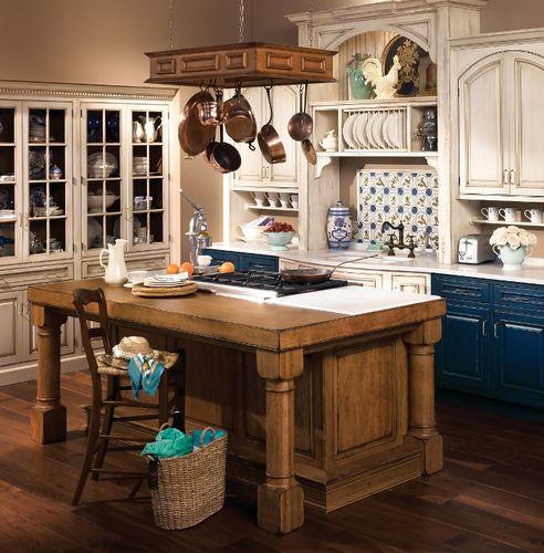 Интерьер кухни в стиле прованс: отделка, мебель, освещение