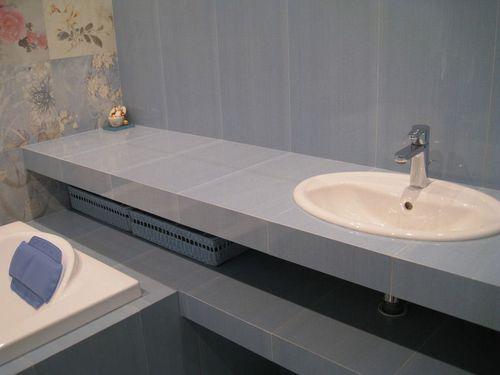 Из чего сделать столешницу в ванной