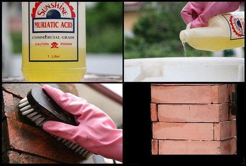 Как очистить кирпич от раствора