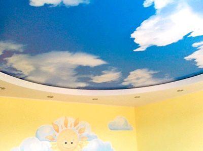 Как оформить натяжные потолки в детской комнате своими руками: видео и фото инструкция