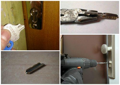 Как открыть дверь, если замок заклинило или сломался