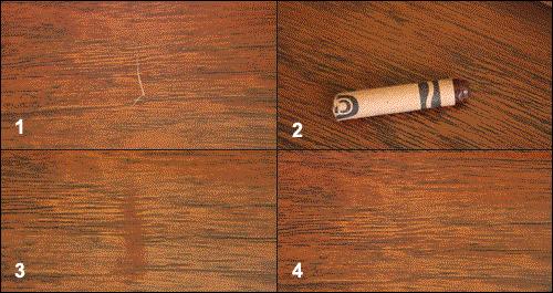 Как убрать царапины на ламинате: чем можно замазать трещины, заделать и устранить скол, ремонт покрытия подручными средствами