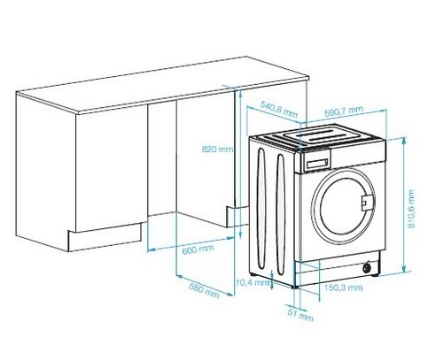 Как встроить стиральную машину в кухню: этапы работ, схемы подключения и установки (фото и видео)