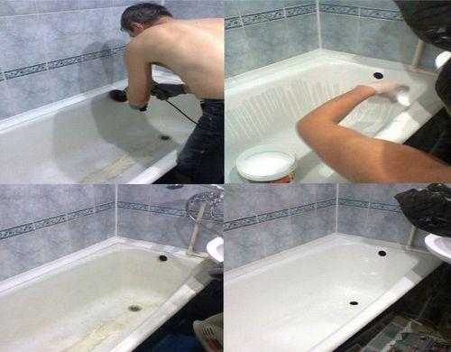 Какой краской покрасить чугунную ванну
