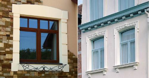 Какой выбрать материал для обрамления окон на фасаде здания