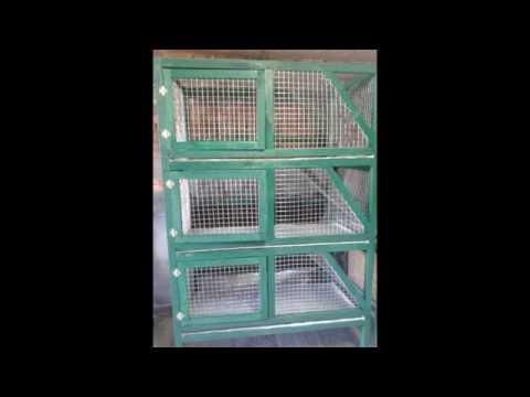 Клетки для кроликов в 2 или 3 яруса
