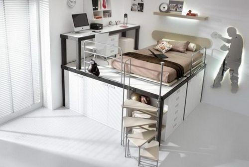Кровать чердак с рабочей зоной для подростка