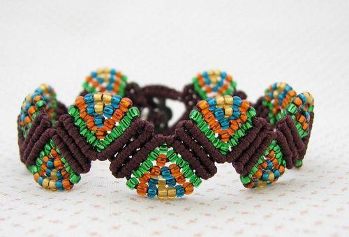Браслеты своими руками схемы плетения для начинающих фото 22