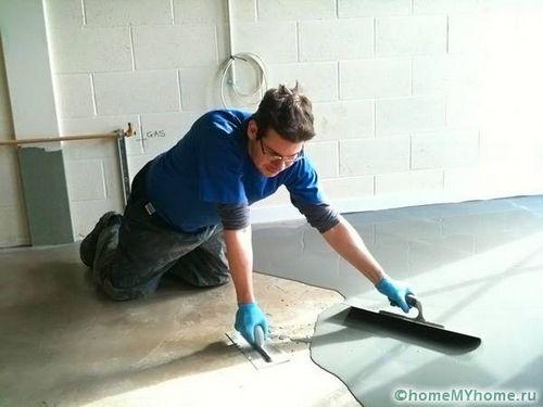 Наливной пол своими руками: пошаговая инструкция по заливке