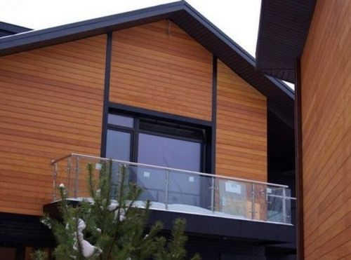 Отделка фасадов домов современными материалами, фото