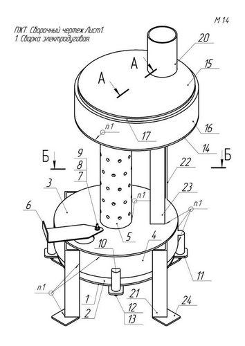 Печка на отработке своими руками: чертежи, видео и эксплуатация