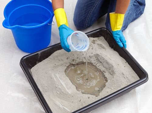 раствор цемента с песком