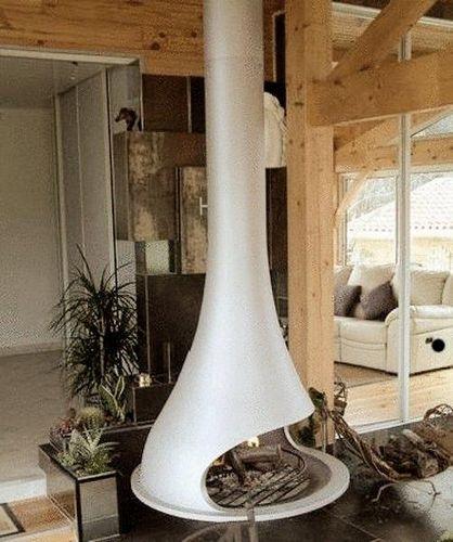 Подвесной камин: своими руками для загородного дома, фото и чертежи биокаминов, висячие в интерьере печи