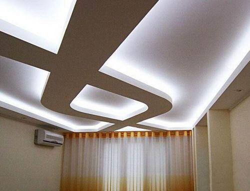 Подвесные потолки из гипсокартона своими руками с подсветкой видео