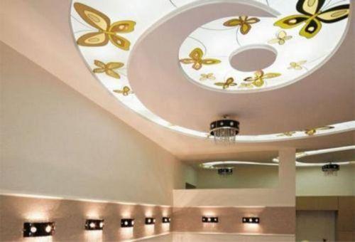 Подвесные стеклянные потолки - различные виды, фото дизайна