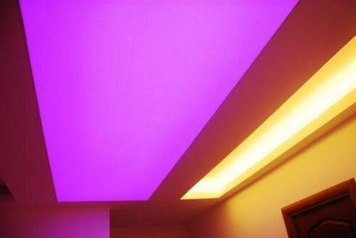 Полупрозрачные натяжные потолки - особенности и нюансы подсветки