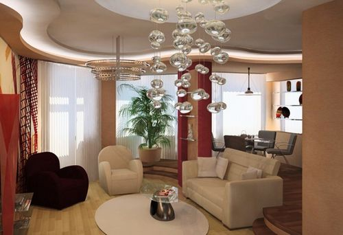 Потолочные люстры для гостиной: главные критерии выбора