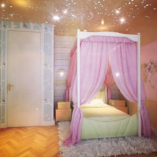 Потолок в детской комнате: 15 фото