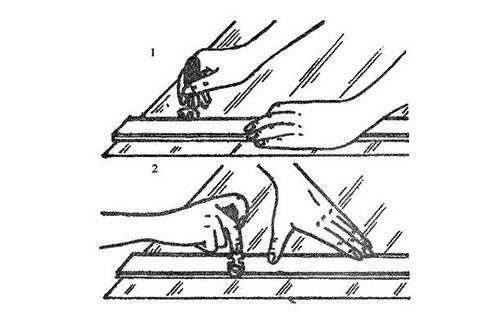 Разметка и нарезка стекла для рам на балконе, как резать стекло фото и видео