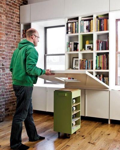 Шкафы-столы (42 фото): рабочее место в виде трансформера с откидным или выдвижным секретером внутри