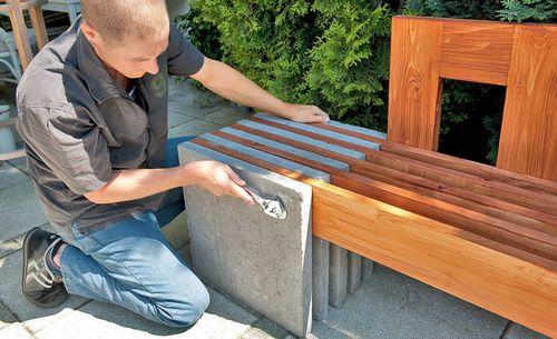 Скамейка для дачи своими руками: фото, чертежи, видео
