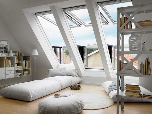 Спальня на мансарде (76 фото): дизайн интерьера мансардной спальни на чердаке