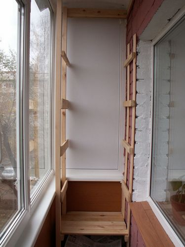 Стеллаж для балкона: как сделать своими руками из дерева, металлический, фото