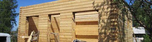 Стены дома из бруса: фото, их толщина, технология монтажа и возведения