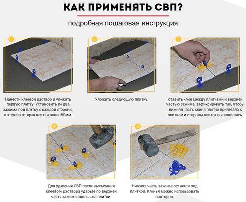 СВП система выравнивания плитки - идеальная укладка плитки