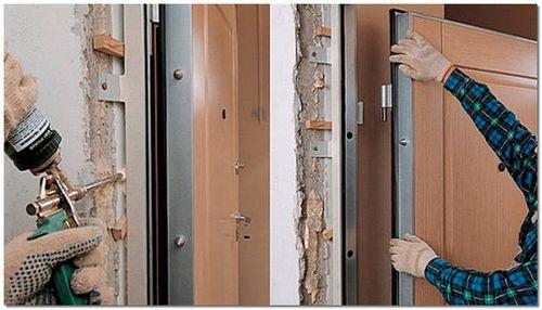 Установка металлических дверей своими руками: фото и видео